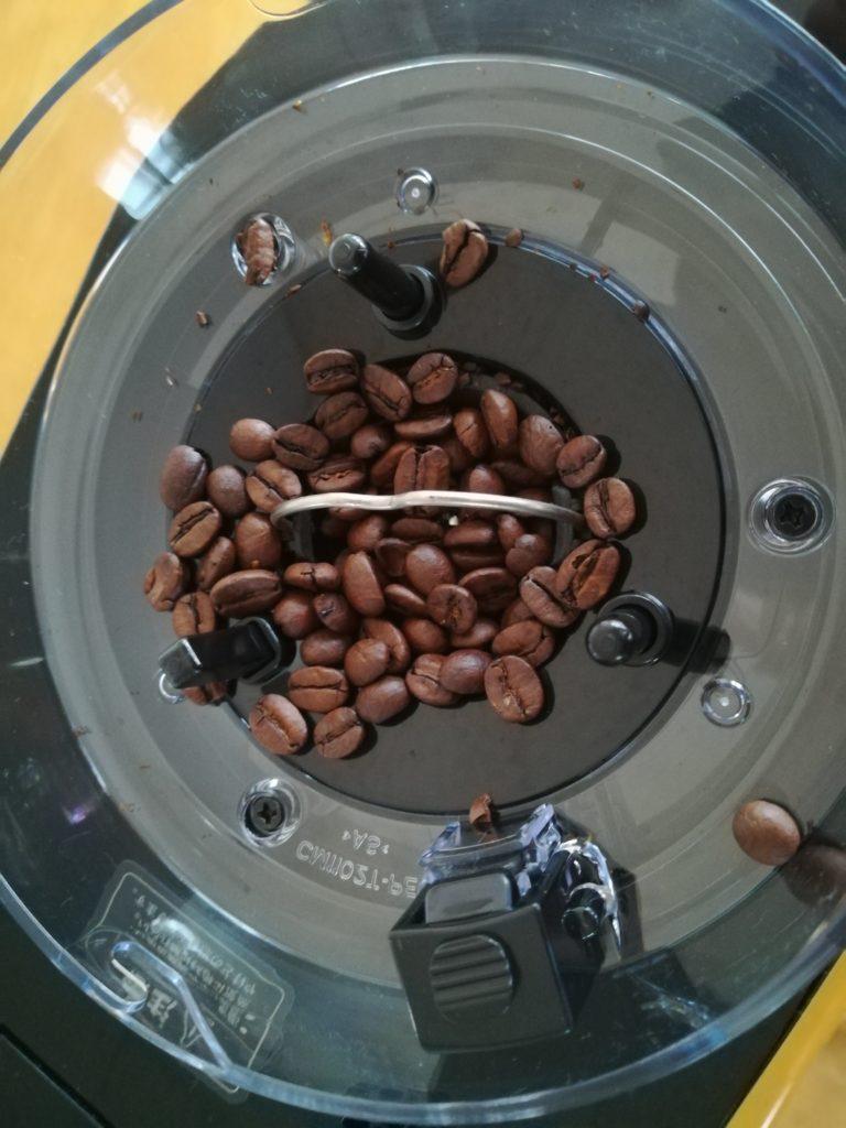 siroca コーヒーメーカー SC-C122 豆容器の中