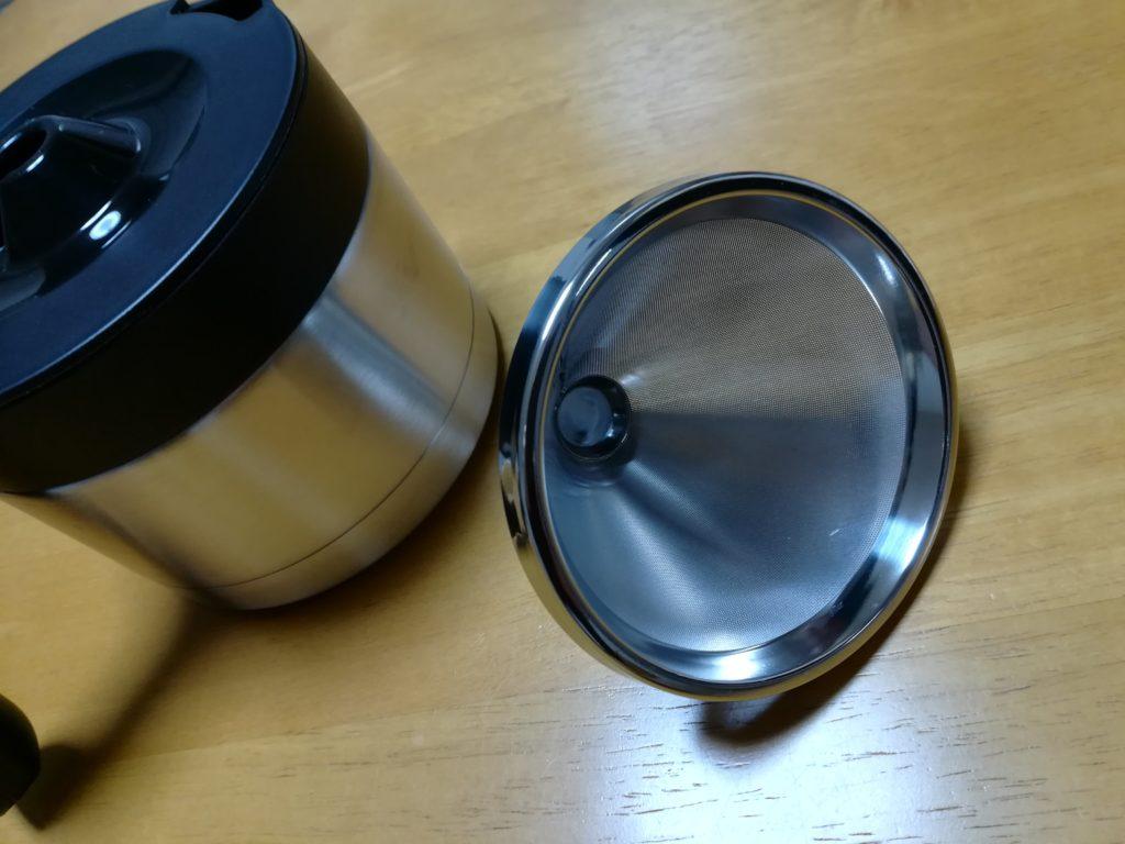 siroca コーヒーメーカー SC-C122のステンレスサーバー&ステンレスフィルター