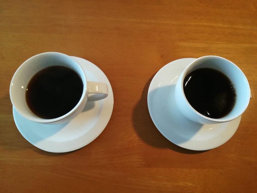 手挽きコーヒーと飲み比べ