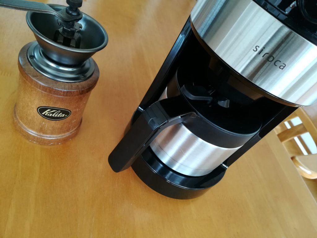 カリタのミルKH-3とコーヒーメーカー