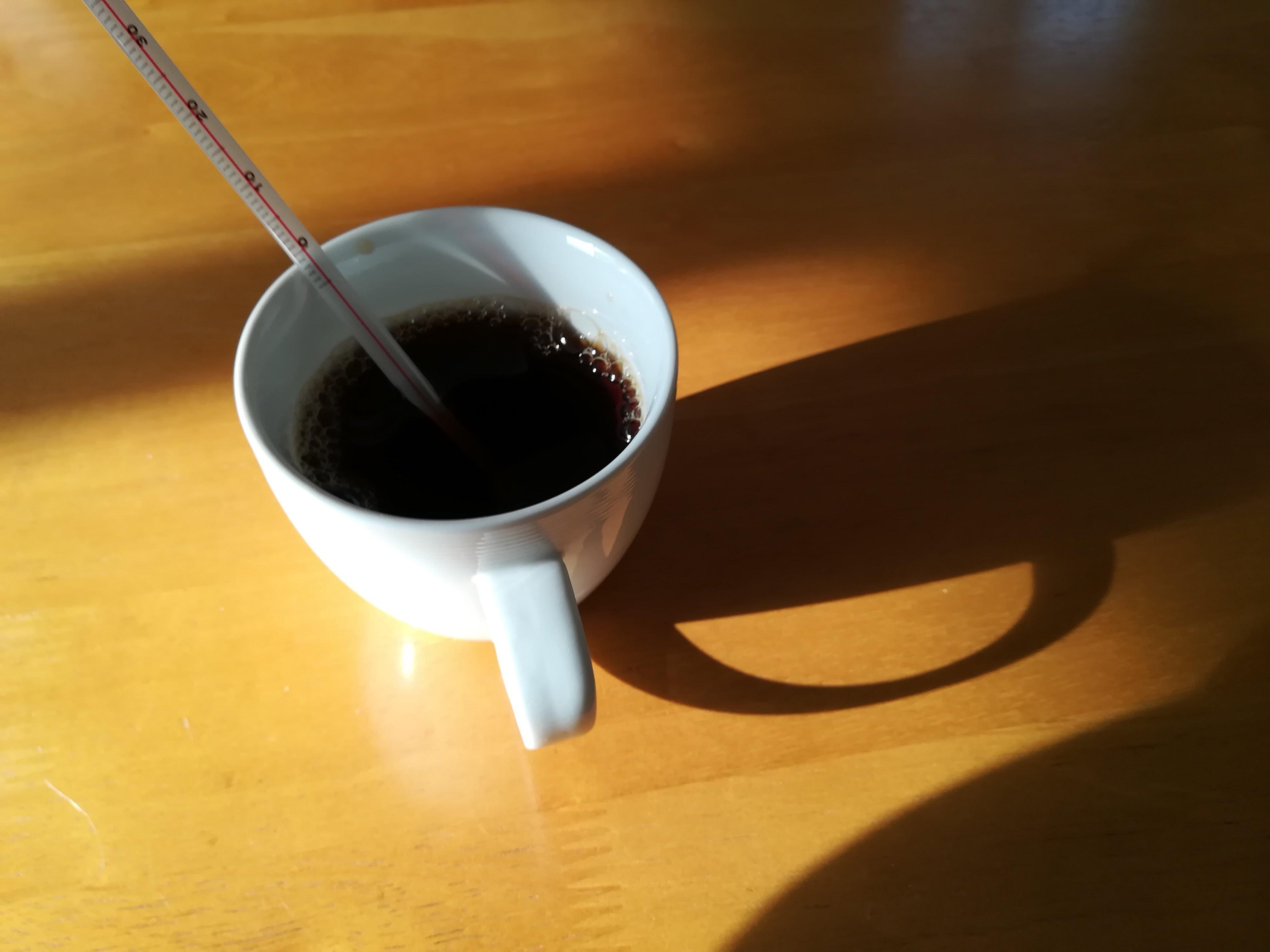 コーヒーの温度は大事