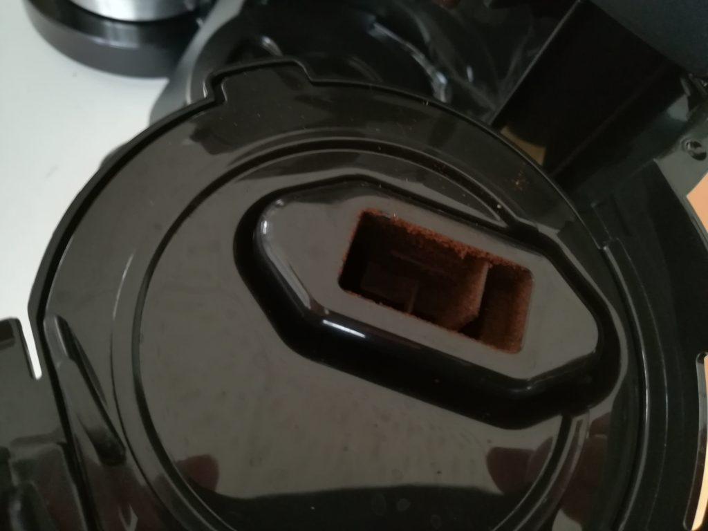 豆の粉が付着
