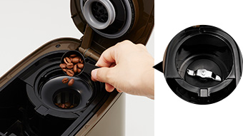 ビタントニオ全自動コーヒーメーカーのタンクやミル