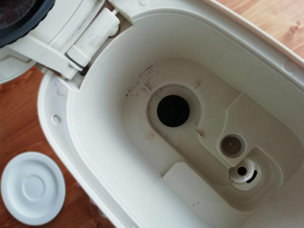 ビタントニオのコーヒーメーカーVCD-200のコーヒー抽出後の本体の底