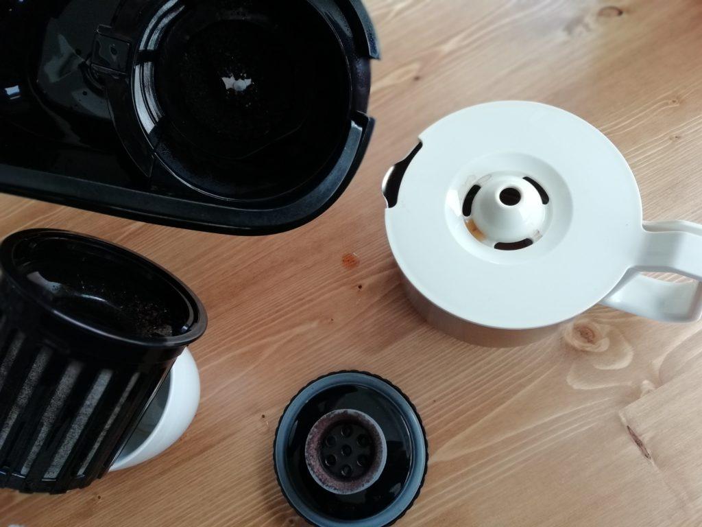 ビタントニオのコーヒーメーカーVCD-200の毎回洗う必要のあるパーツ