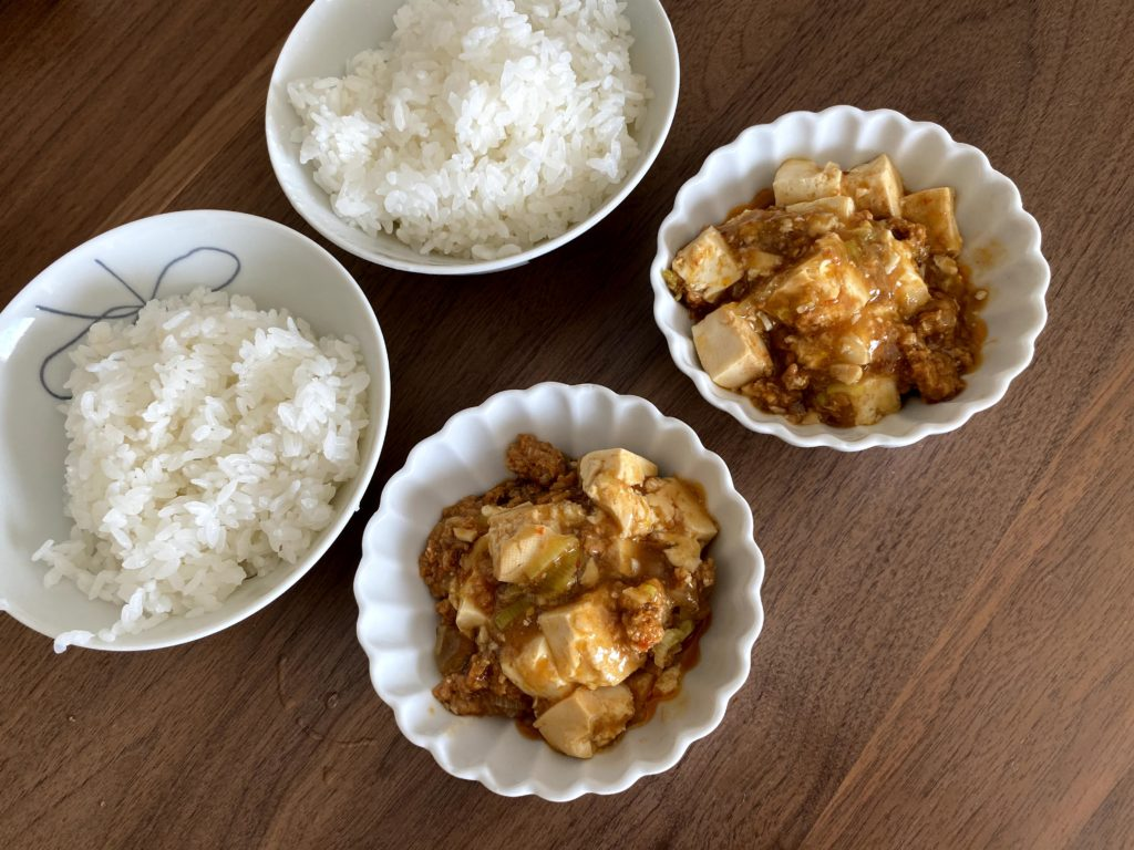 ご飯と麻婆豆腐