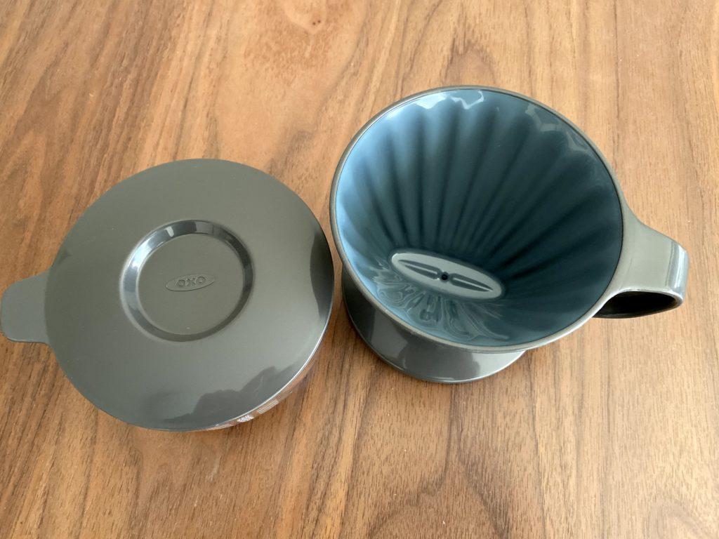 OXOオートドリップコーヒーメーカーの内側