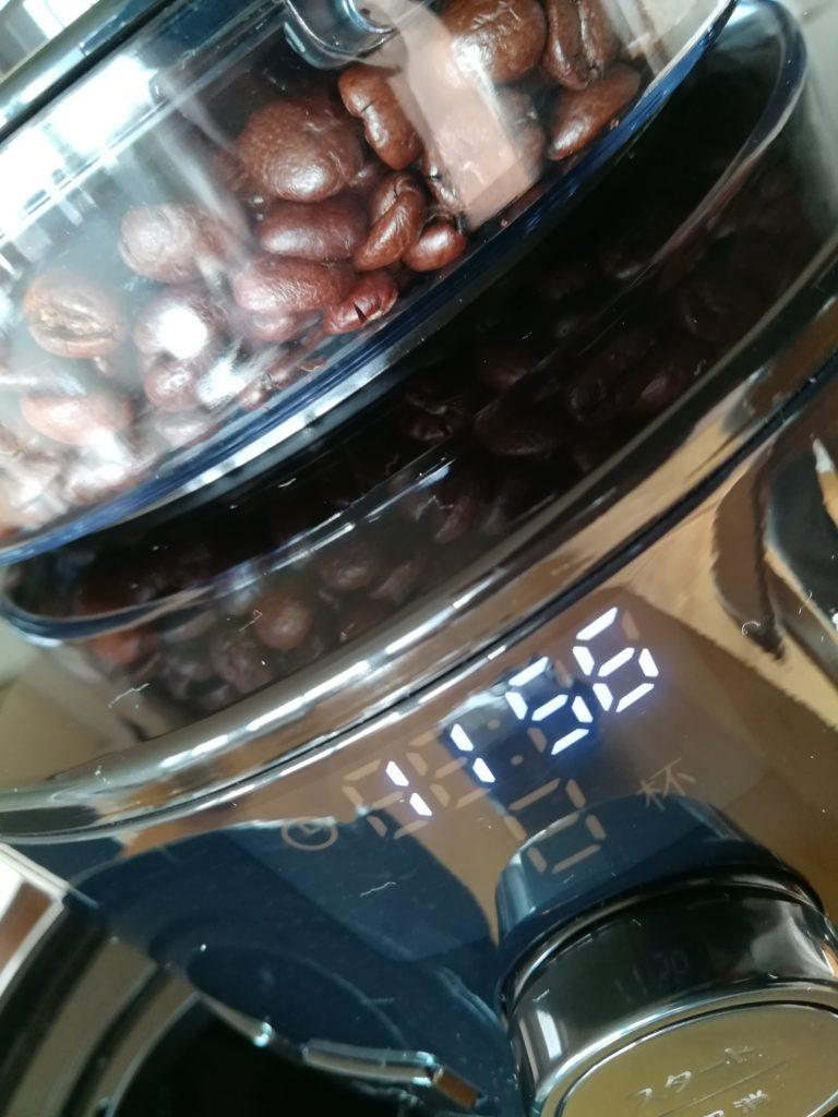 シロカコーン式全自動コーヒーメーカーは豆が見えるのが美しい