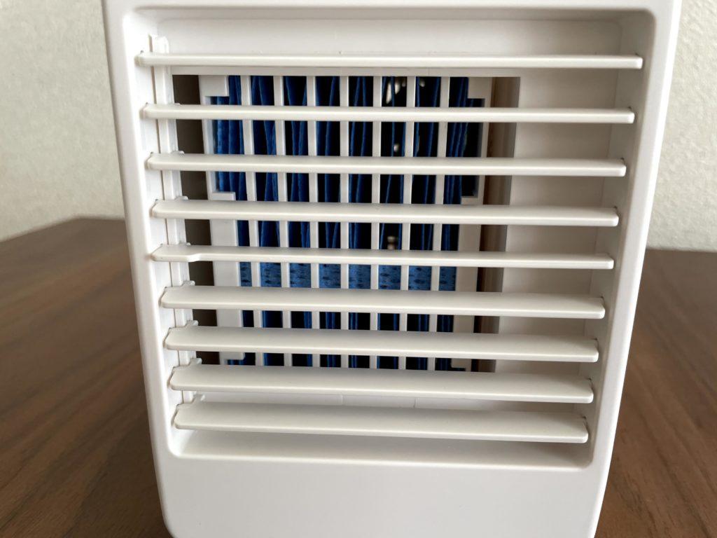 無印良品USB冷風扇MJ-WCF1のフィルターが青色