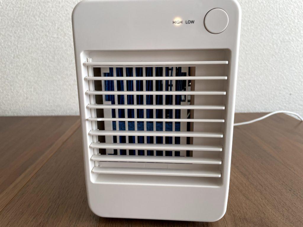 無印良品USB冷風扇MJ-WCF1をスイッチON