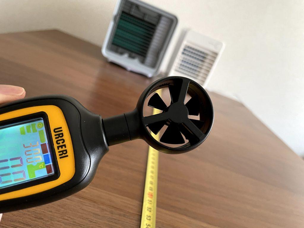 無印良品USB冷風扇MJ-WCF1とここひえR3はどちらが風が届くのか比較